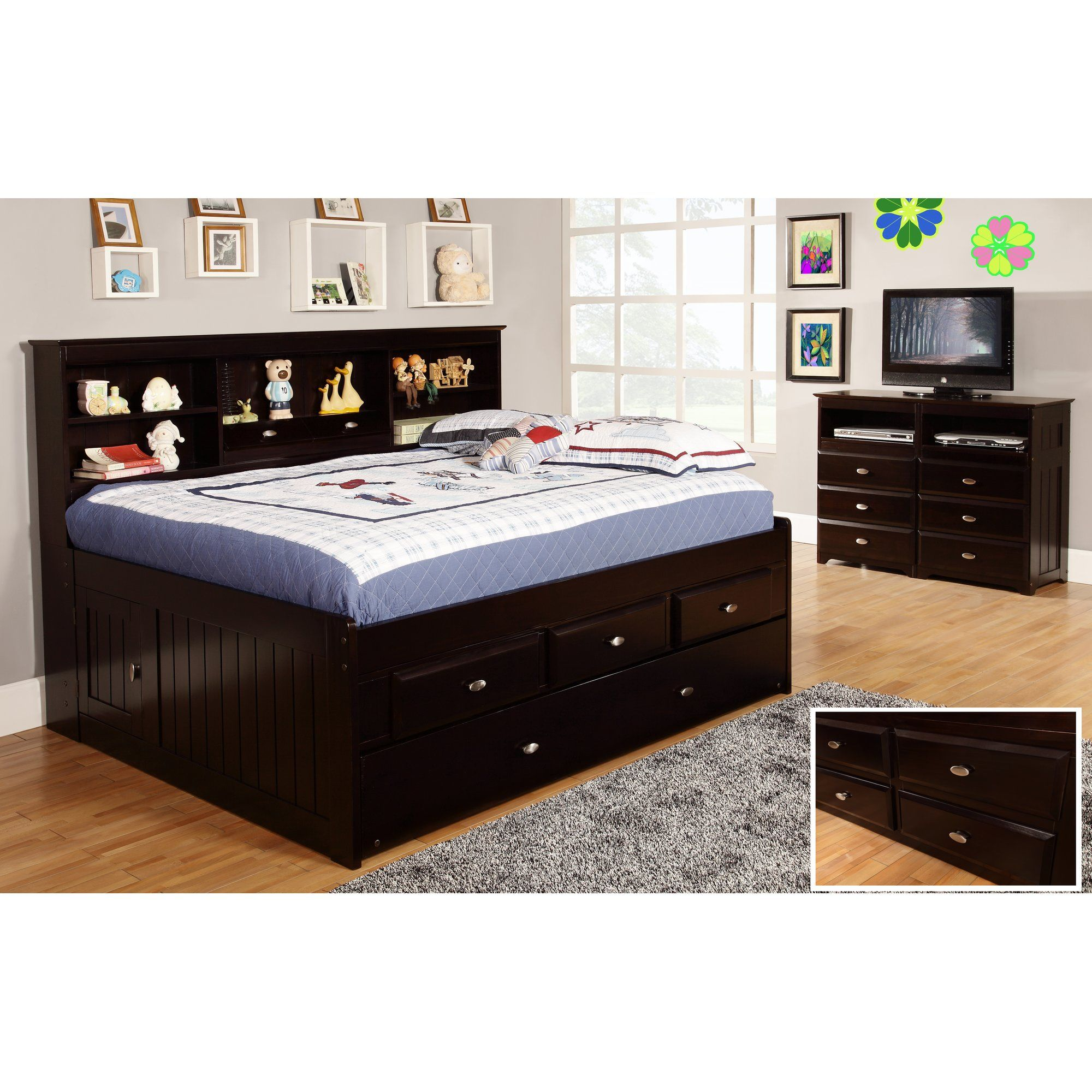 Kaitlyn Mate's & Captain's Bed with Trundle Furniture