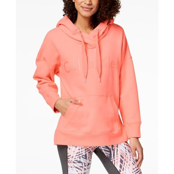 b3104e1df76 Calvin Klein Performance Over-Sized Hoodie ( 69) ❤ liked on Polyvore  featuring tops