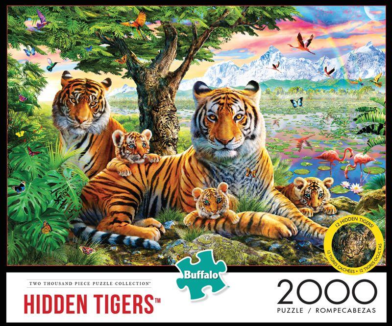 Hidden Tigers 2000 Piece Jigsaw Puzzle Iamapuzzler Jigsawpuzzle