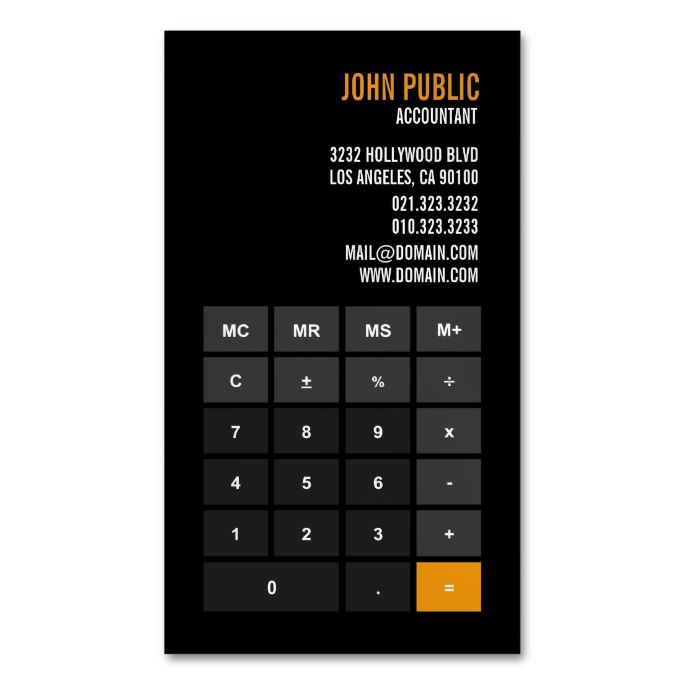 Accountant app calculator business card magnet accountant business accountant calculator magnetic business cards magnetic business cards pack of 25 make your own business card with this great design colourmoves