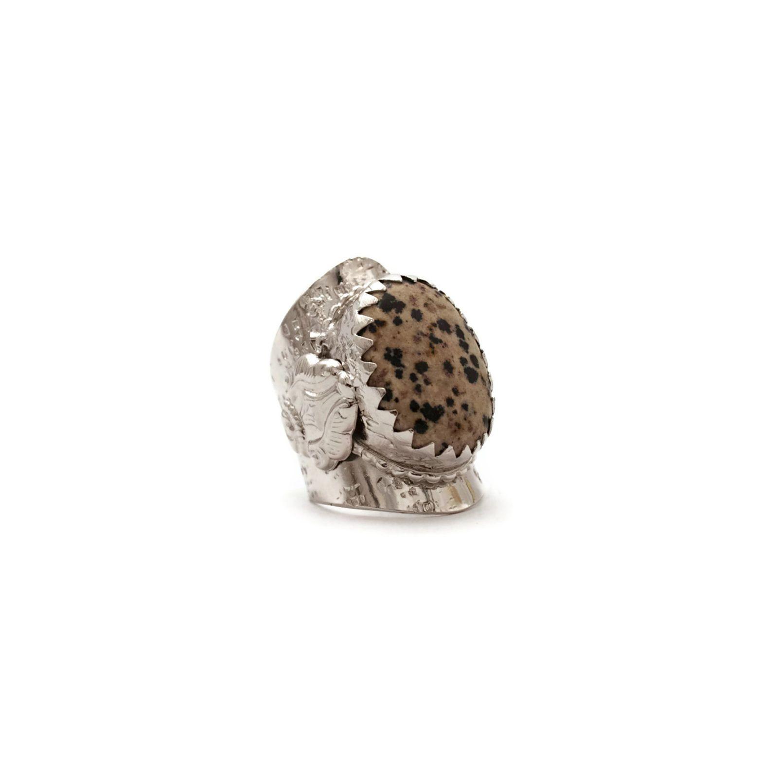 Am liking this Dalmatian jasper Ava ring @LindseyMarieGVA via @Saleservant