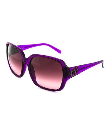 Purple Transparent Sunglasses - Women by GUESS #zulilyfinds #zulilyfind! #sunnies #sunglasses #guess #purple #sale #summerfashion
