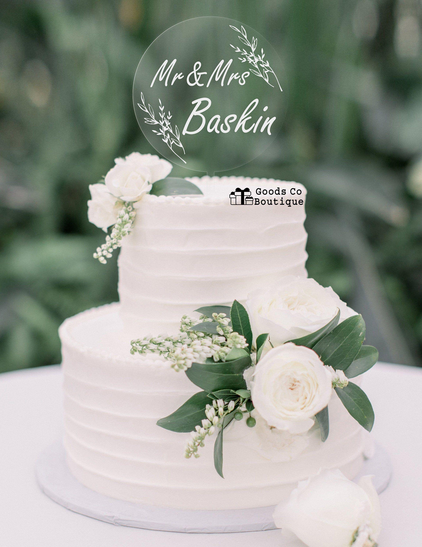 Custom Mr and Mrs acrylic cake topper Clear acryli
