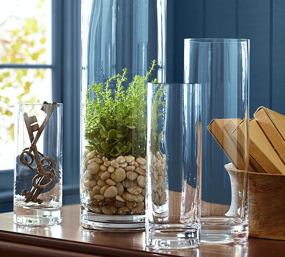 Aegean Clear Glass Vases Glass Vase Decor Clear Glass Vases Tall Vase Decor