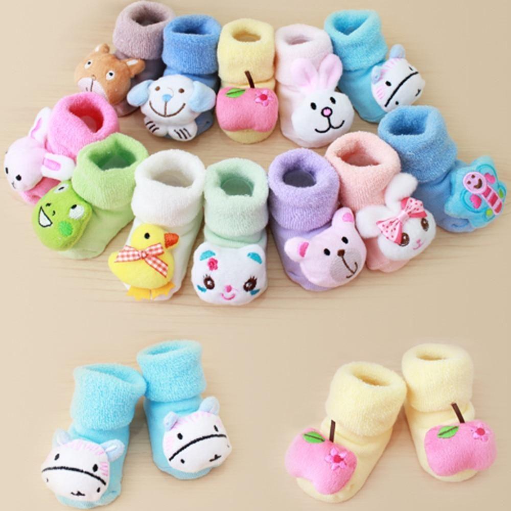 Cute Newborn Baby Boy Girls Socks Infant Cute Bear Crib Warm Shoes Socks Nice es