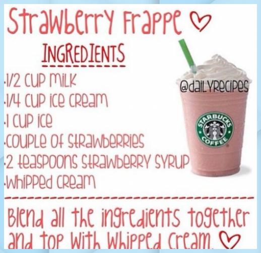 Hier sind die Tipps, wie man eine StarbucksErdbeerFrappe