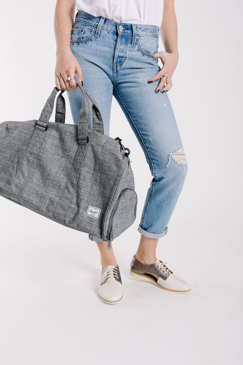 03b5bd6ad14f Herschel: Novel Duffle | Mid-Volume in Raven Crosshatch | It's In ...
