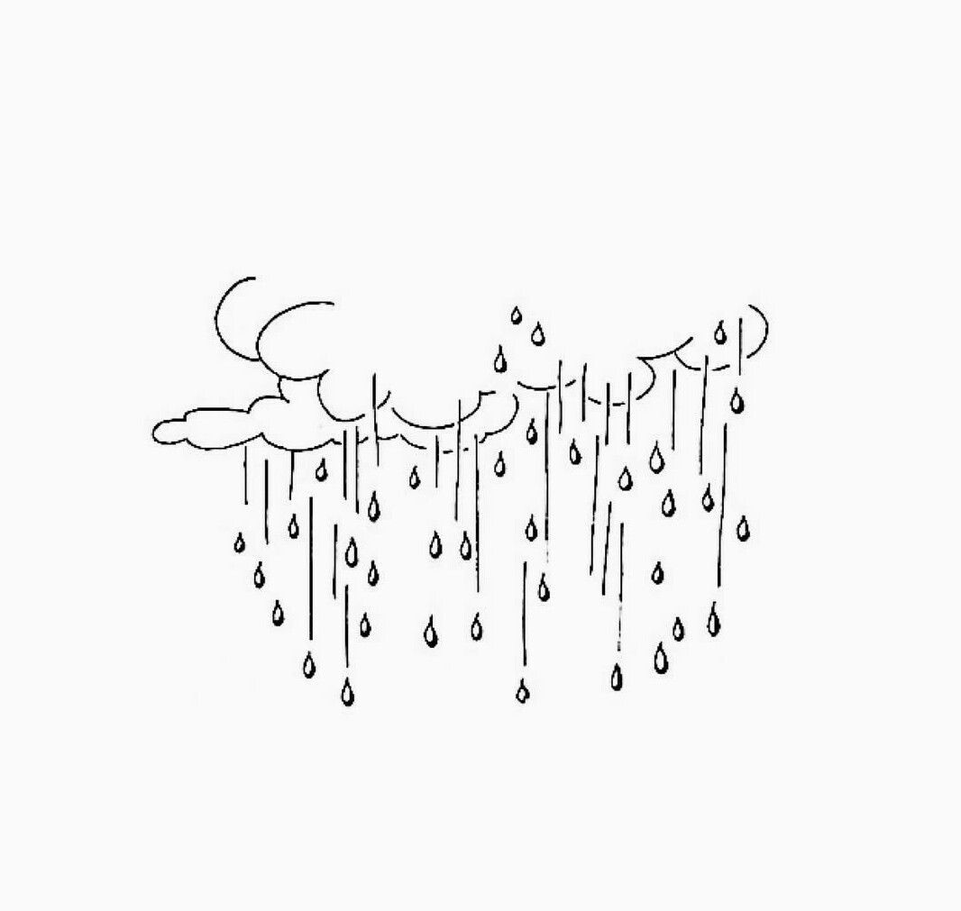 Raining G Clouds Drawing Art