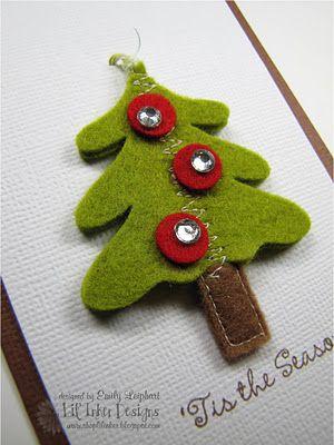 Christmas tree Felt Inspired Pinterest Christmas tree