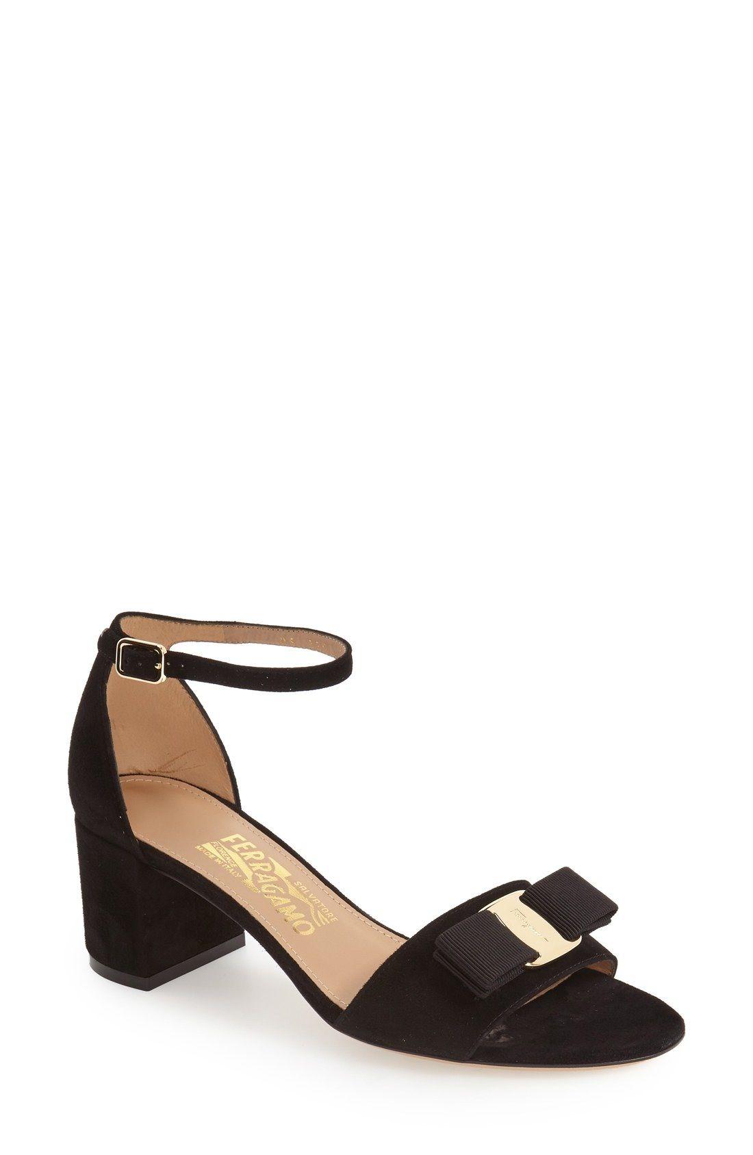 Salvatore Ferragamo Gavina Block Heel Bow Sandal (Women