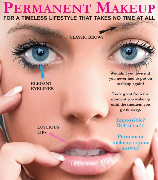 The Real Deal with Permanent Makeup   Permanent makeup eyeliner, Permanent  makeup eyebrows, Permanent makeup