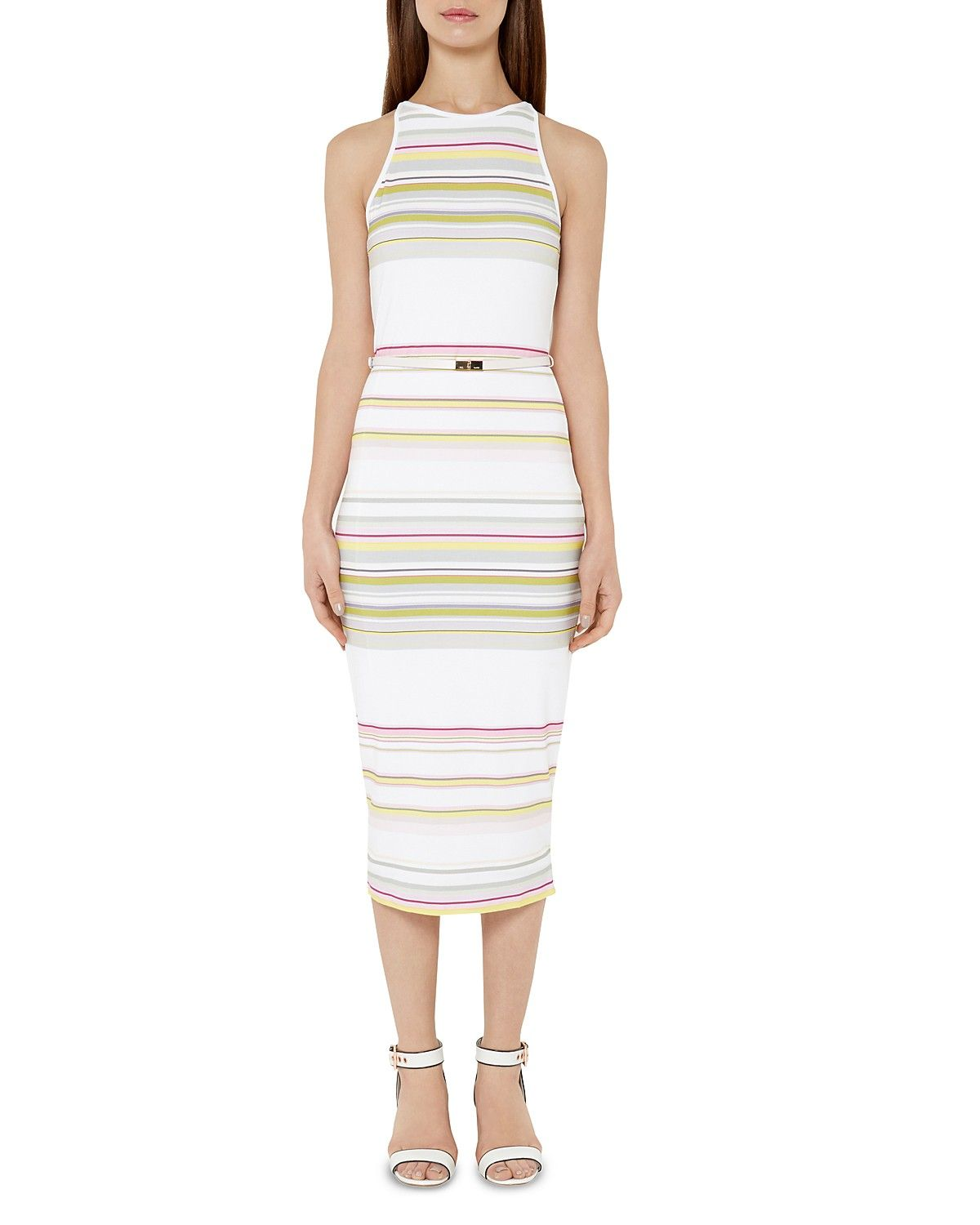 Ted Baker Danabel Striped Midi Dress