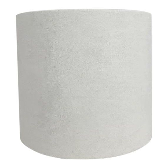 Please review the 'about' section at the bottom of our shop page for the most current lead time information + review the below details for important information:  The Otto Troweled Plaster Texture Cylinder Accent Table  + 18 d x 16 h • Troweled texture plaster finish (see 2nd photo for texture example close up) • Handmade // made to order • Custom dimensions available upon request, prices may vary // message us for details • Production time on each table is about 10-11 weeks.  We work as fast as