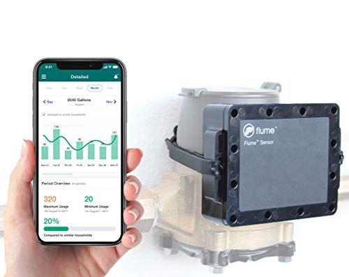 Flume Smart Home Water Sensor Monitors Water Usage And Https Www Amazon Com Dp B07gpxkn8z Ref Cm Sw R Pi Dp U X Hdexcbbqs31m0 Water Usage Smart Home