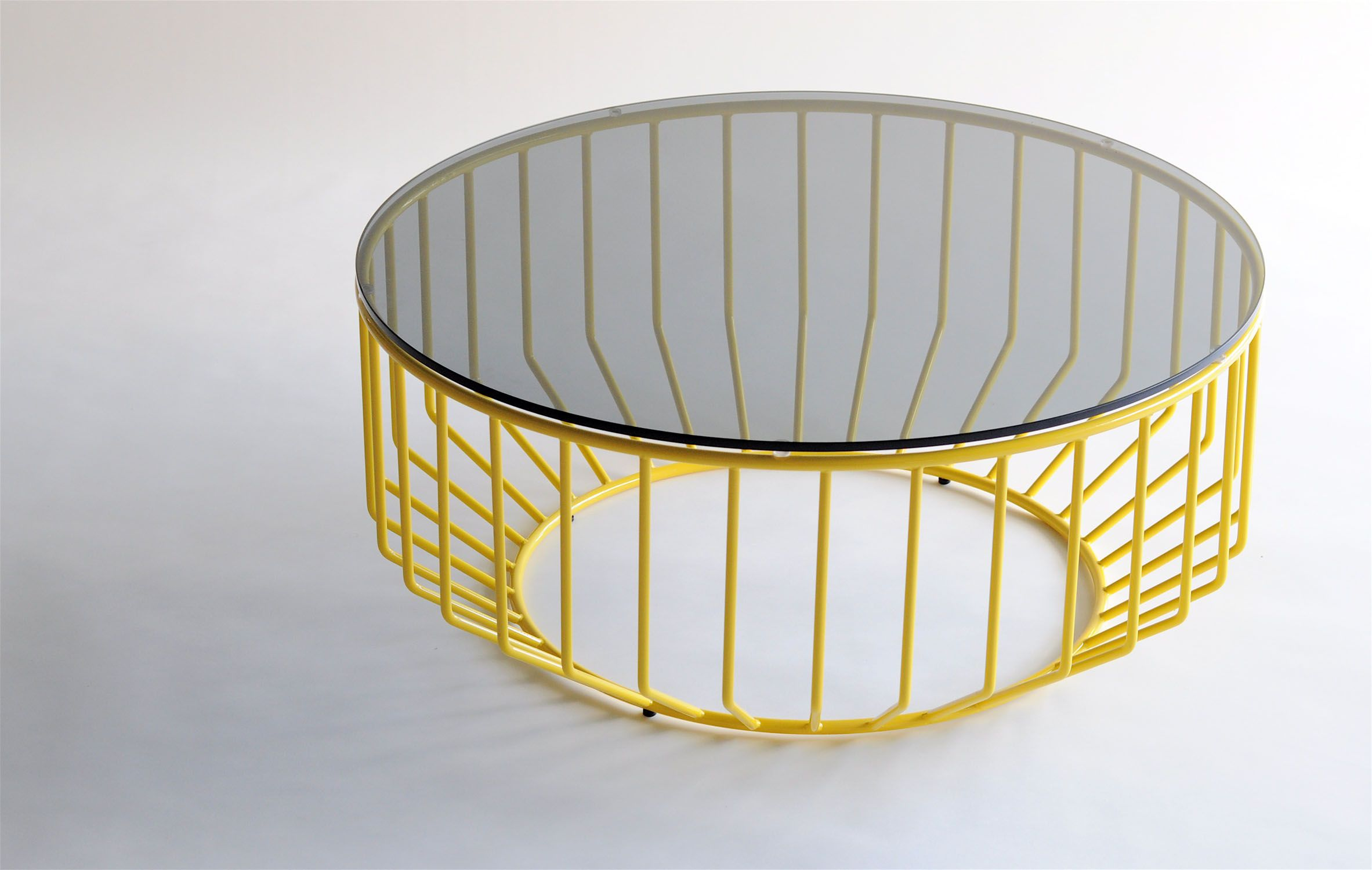 wired 32 coffee table w glass top by reza feiz for phase design