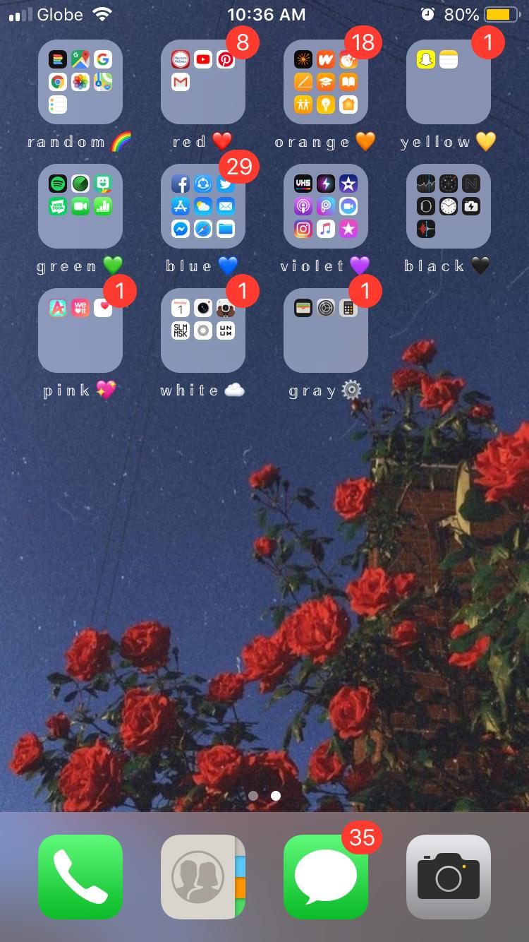 æsthetic phone organization Iphone organization