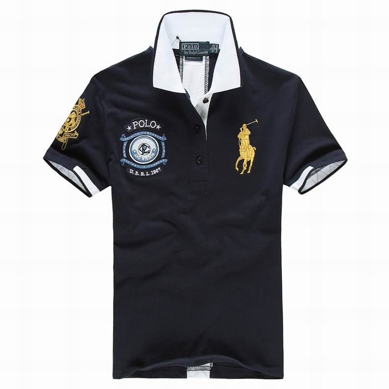 ralph lauren uk outlet Women's USRL 1967 Short Sleeve Polo Shirt Navy Blue  http:/