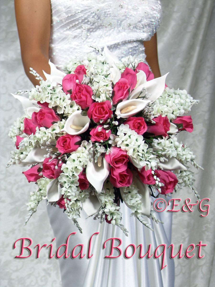 Anna belle fuschia wedding bouquets handtied silk flowers bridesmaid anna belle fuschia wedding bouquets handtied silk flowers bridesmaid bouquets boutonniere corsage groom bridal bouquet mightylinksfo