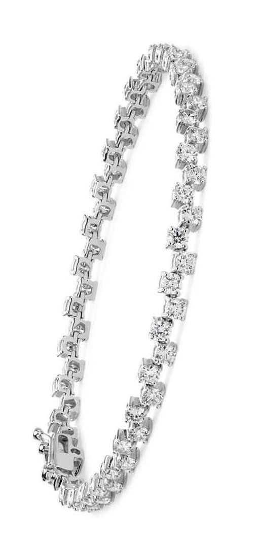 Scattered Diamond Bracelet In 18k White Gold Wedding