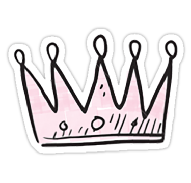 Pink Crown Stickers In 2019 Stickers Stickers Fridge Stickers