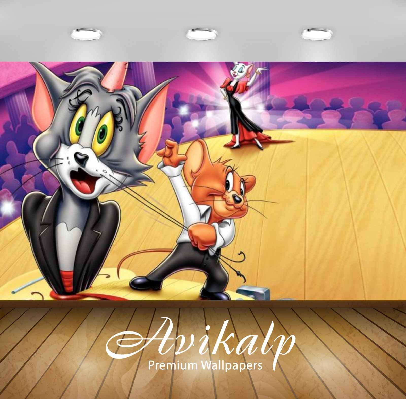 Avikalp Exclusive Awi2269 Tom And Jerry Magic Show Full Hd Wallpapers For Living Room Hall Kids Ro 3 Tom And Jerry Wallpapers Tom And Jerry Tom And Jerry Hd