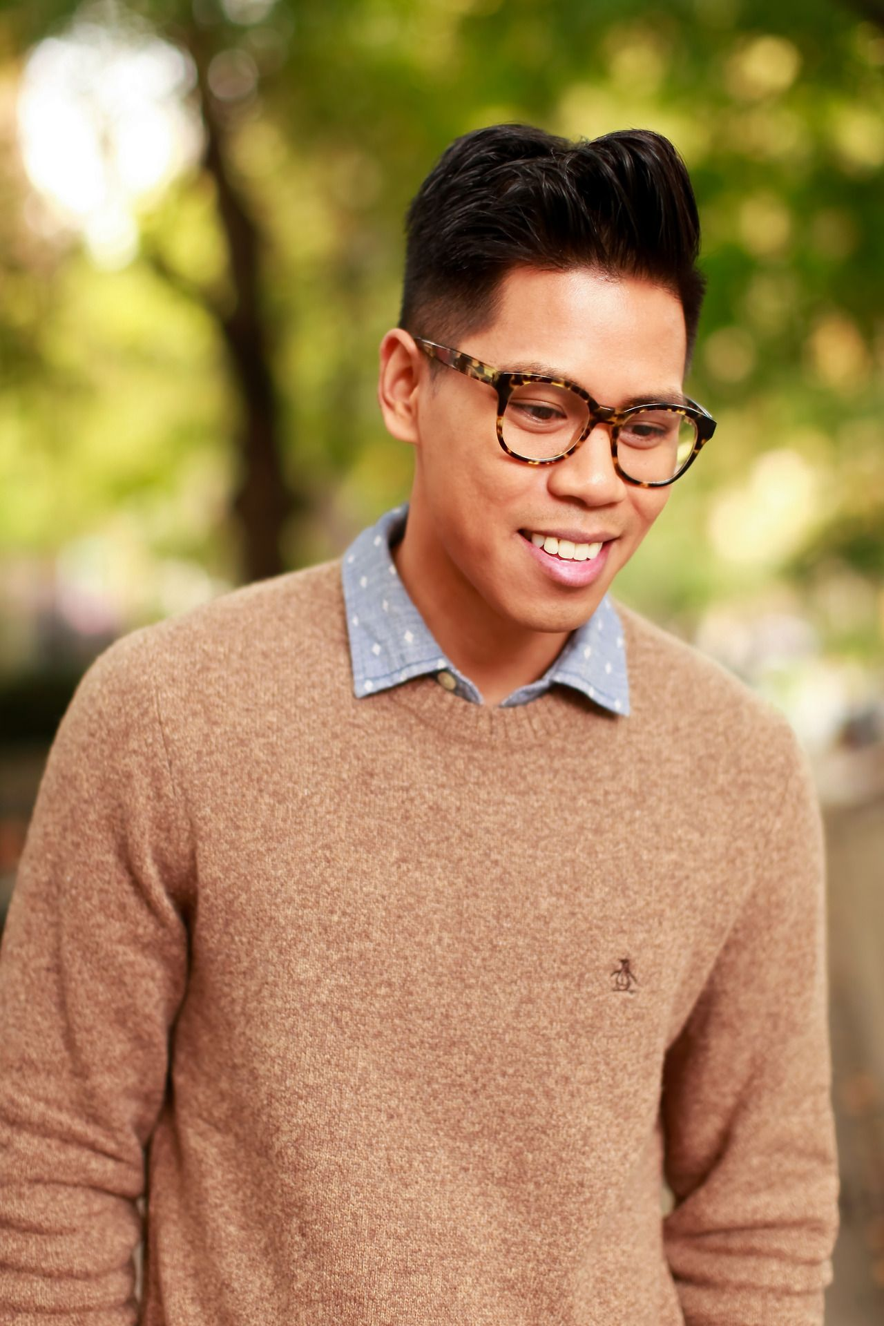 In Chambray And An Original Penguin Lambswool Sweater, Anthony Urbano Of @Closet  Freaks Makes