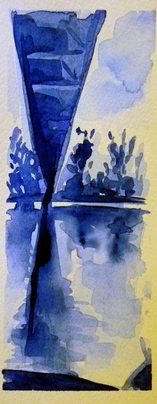 Ponte di Vizzano (acquerello)