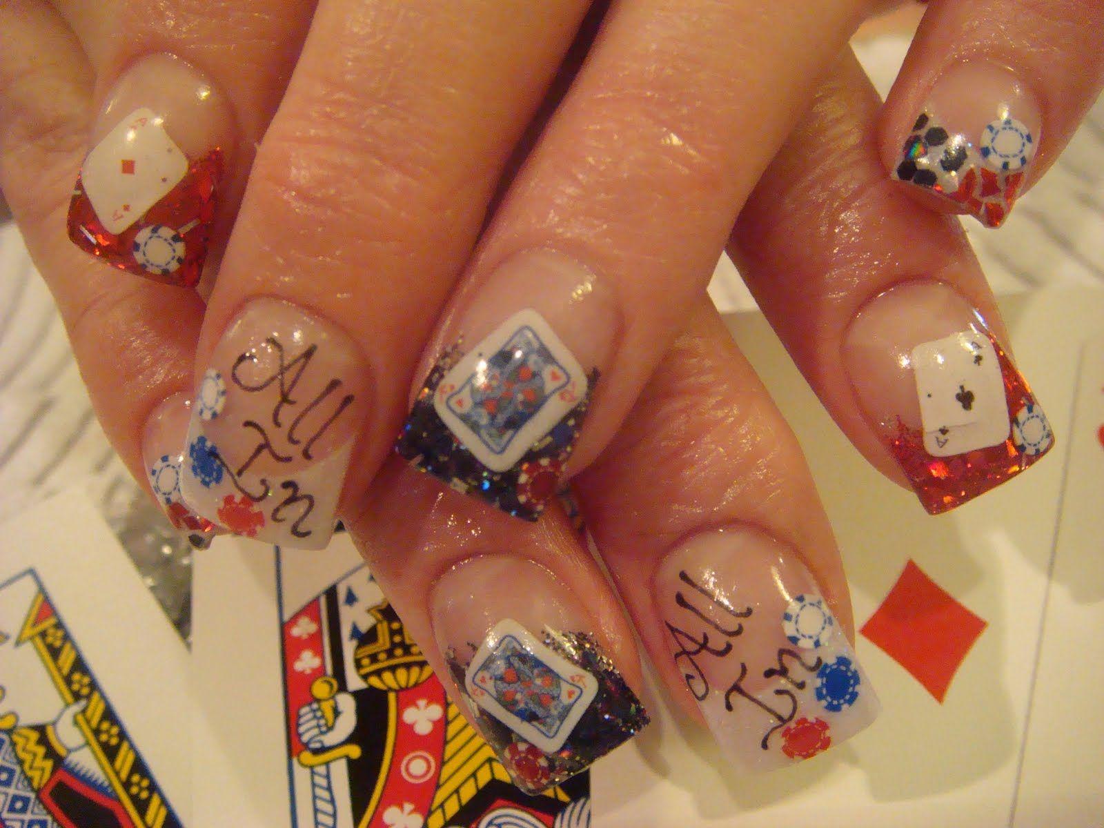 cool nail designs | Fun Poker Playing Nail Art :: Nail Art Design ...