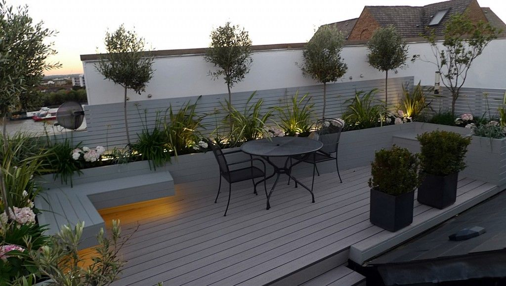 Docklands Tower Bridge Roof Terrace London Outdoor Patio Decor Modern Garden Design Outdoor Patio