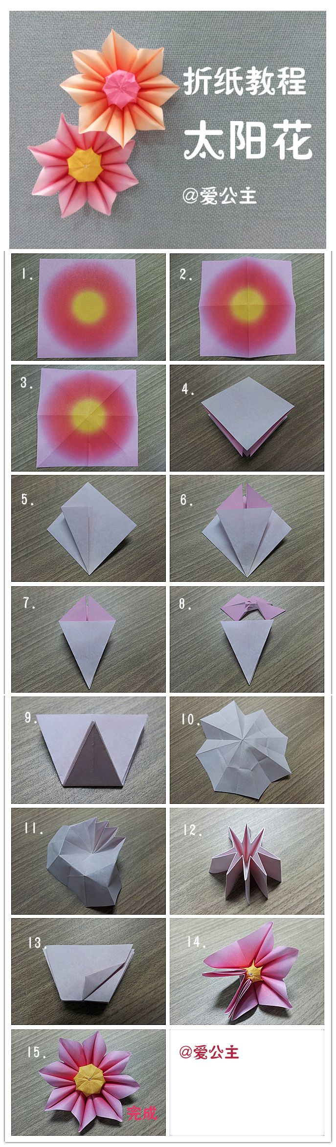 Making Beautiful Variations Of Origami Flower Flowers Instructions Diagrams Diy