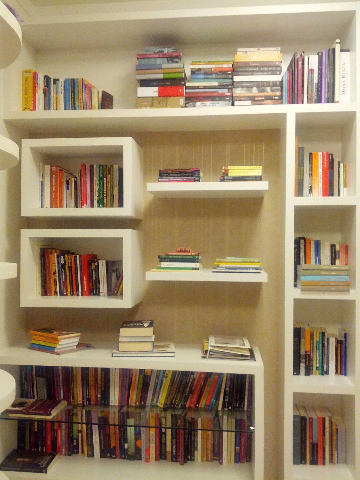 Estante para livros 1200 1600 home pinterest - Estantes para pared ...