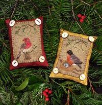 Cute bird ornaments