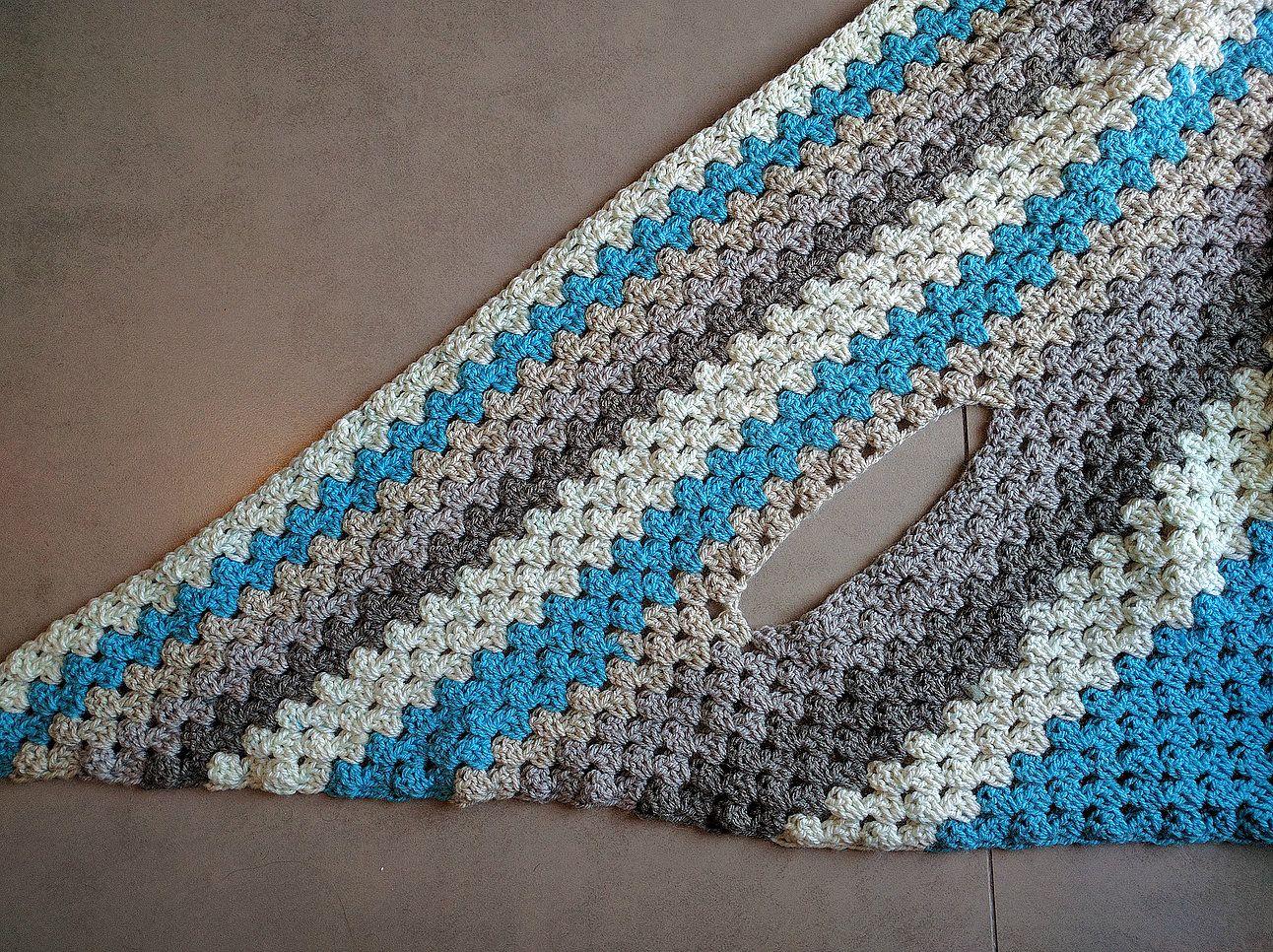 Caron cake triangle shawlscarf the versatile vest