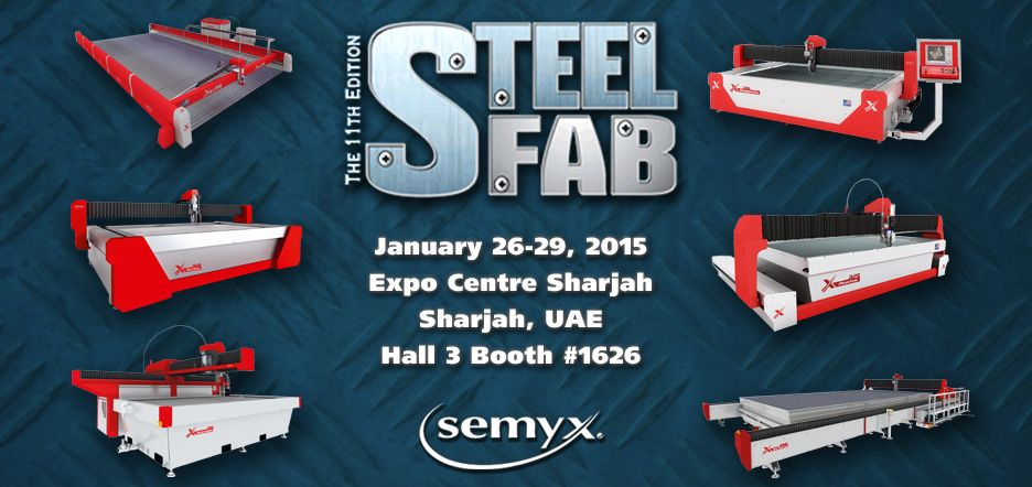 Semyx will be at Steel Fab 2015 on January 26-29 at the Expo