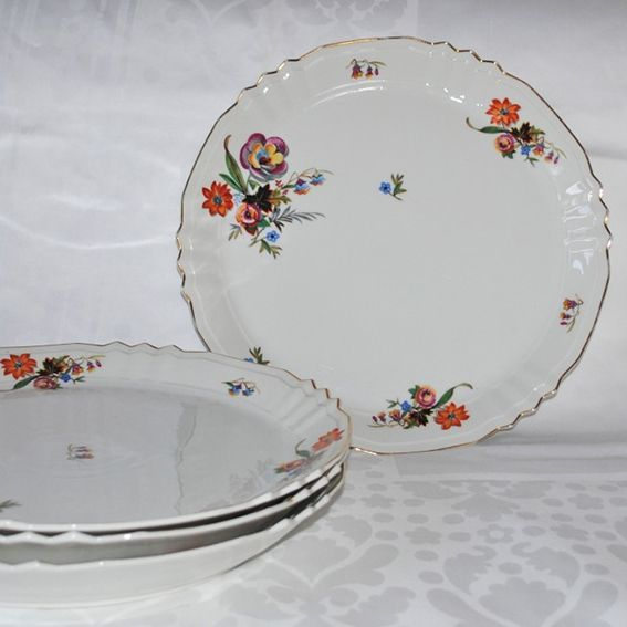 Oude serviezen_platte borden Onze Suus