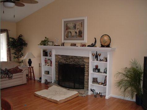 Work Example Fireplace Mantle Bookshelf