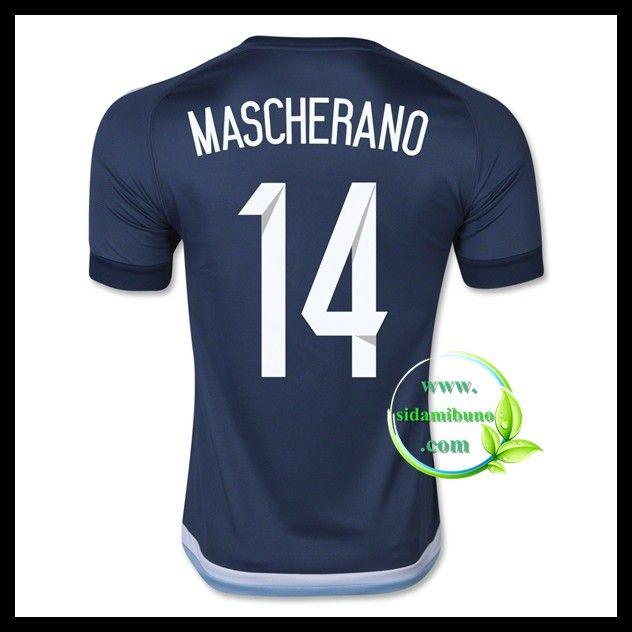 Billige Fotballdrakter Argentina MASCHERANO 14 Bortedraktsett UEFA Euro 2016