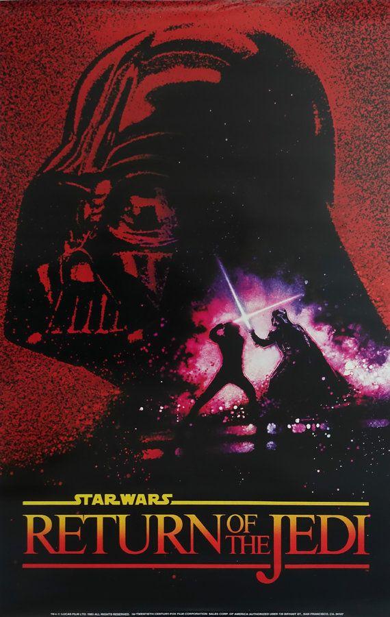1983 Star Wars Return Of The Jedi Movie Poster Original Vintage Poster Star Wars Movies Posters Star Wars Poster Star Wars Art