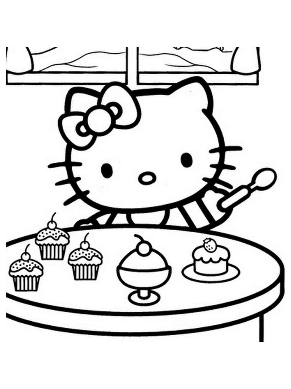 Pin by Julie Brossard on Hello Kitty Malvorlagen  Hello kitty