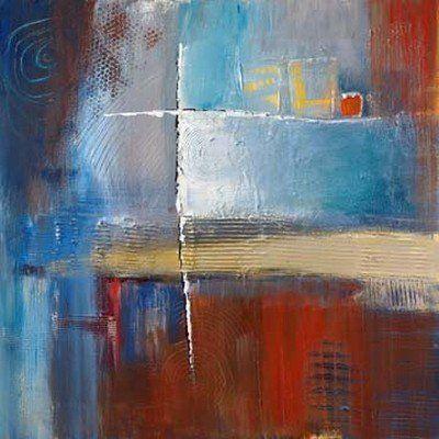 Bea Danckaert, The Game (Abstrakte Malerei, Farbfelder, abstrakte - wohnzimmer bilder abstrakt