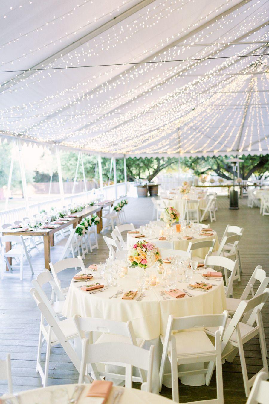Romantic Summer Wedding at Calamigos Ranch Wedding table