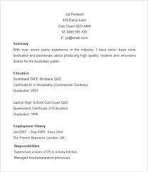 Pastry Chef Resume Image Result For Chef Resume In Ms Word  Cv  Pinterest