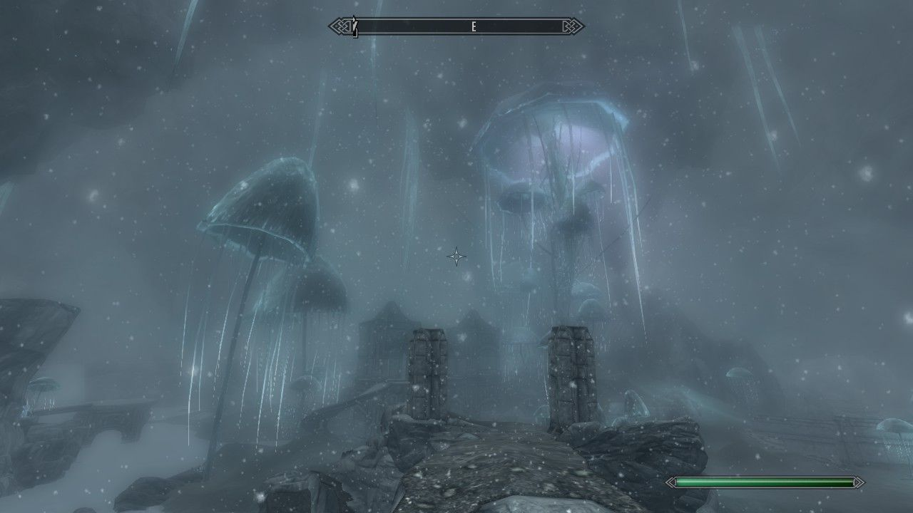 It started snowing in Blackreach #games #Skyrim #elderscrolls #BE3 #gaming #videogames #Concours #NGC