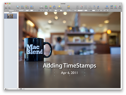 How to add Automatic Timestamps in Keynote & Pages