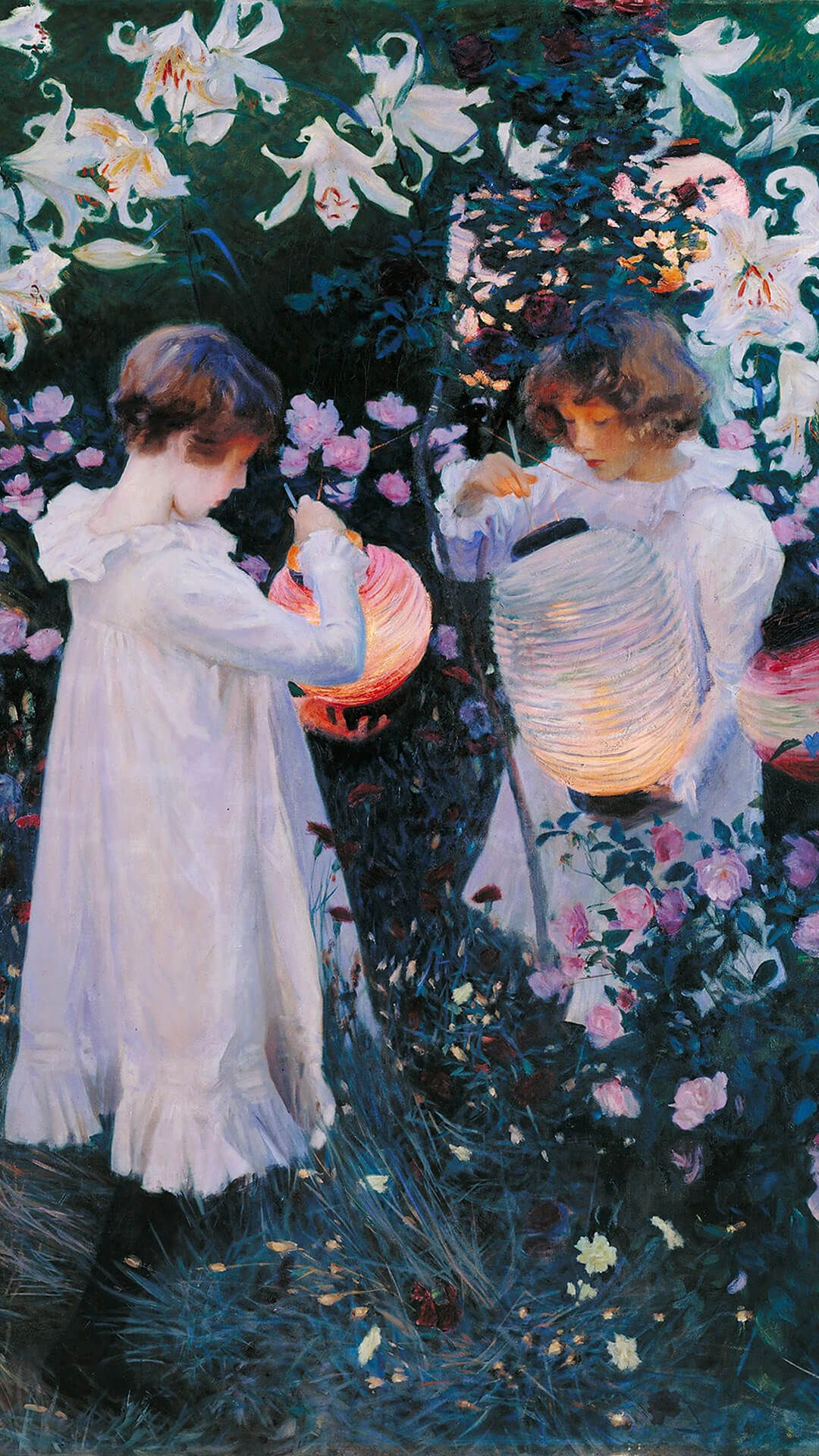 John Singer Sargent-Carnation Lily Lily Rose_1080x1920 | wallpaper ...