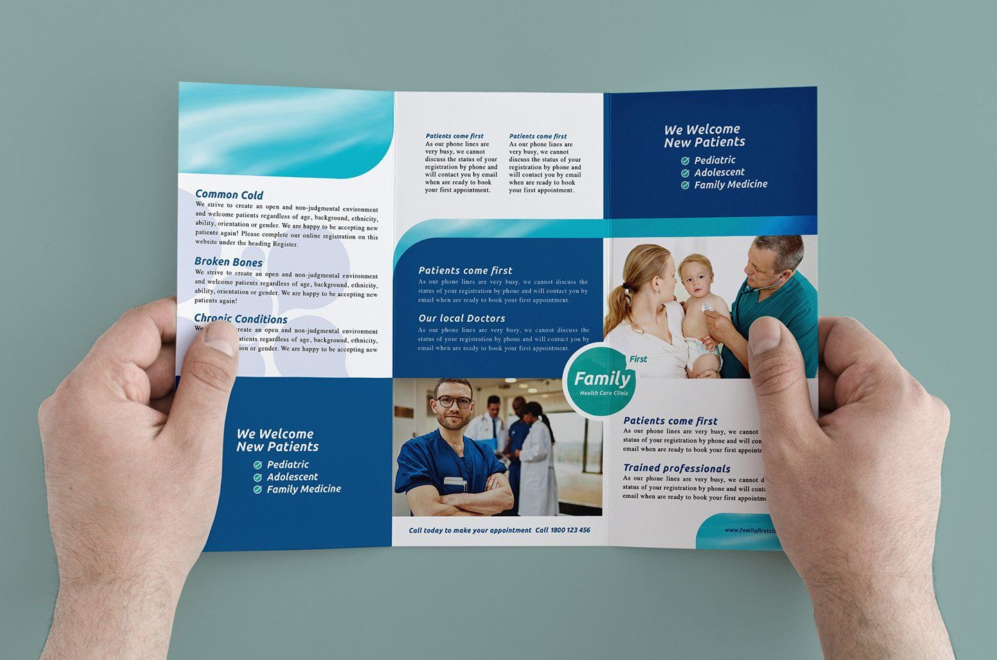 Trifold Healthcare Clinic Template Healthcare Template Trifold