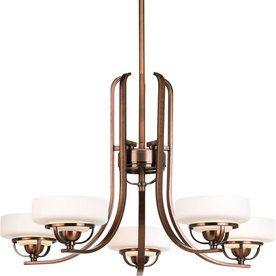 Progress Lighting�Torque 5-Light Copper Bronze Chandelier