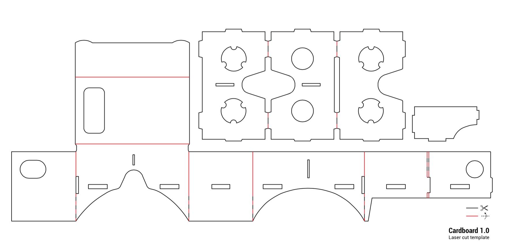 google cardboard template inspiration ideas free jpg download