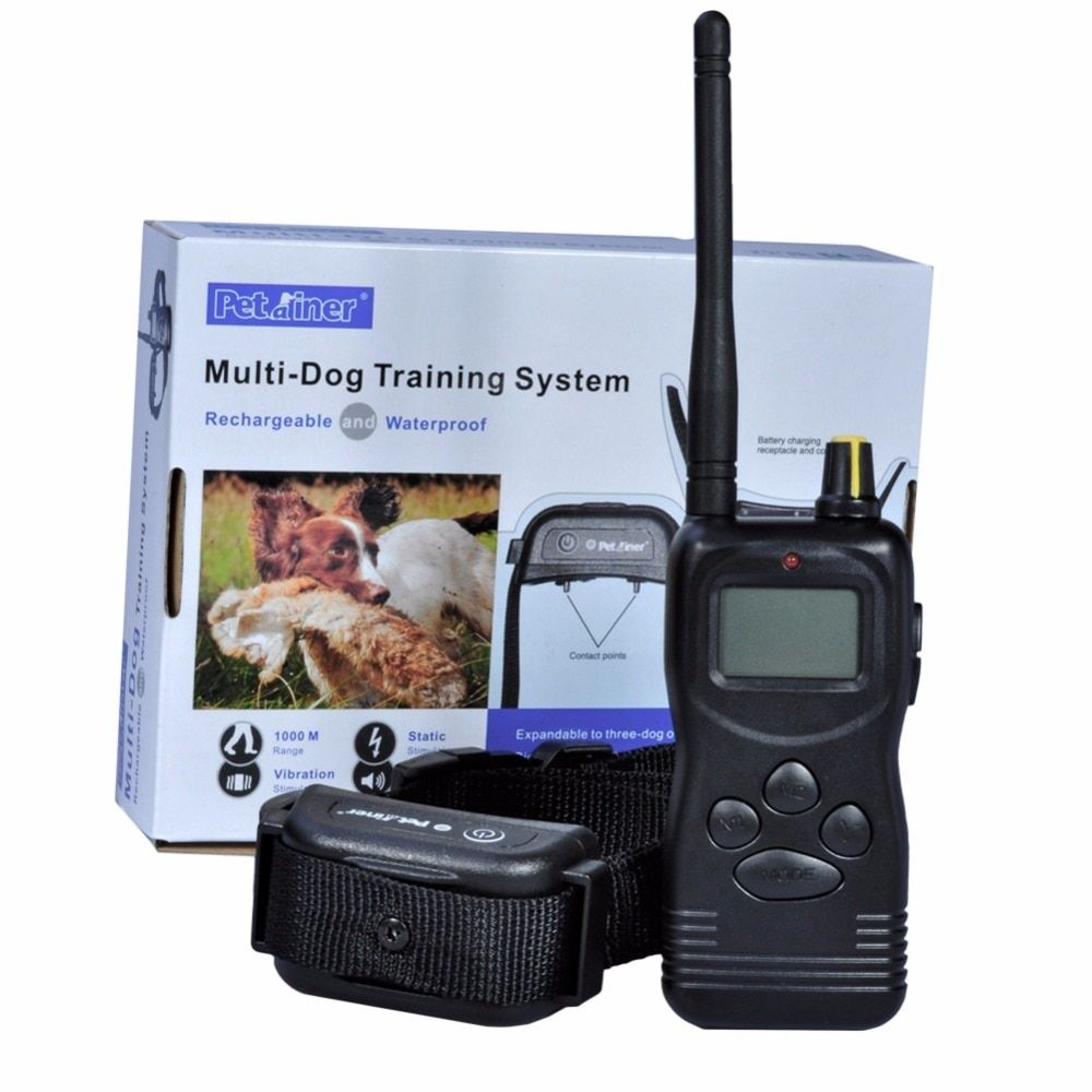Petrainer 900B Dog Remote 1000m Training Collar shock and