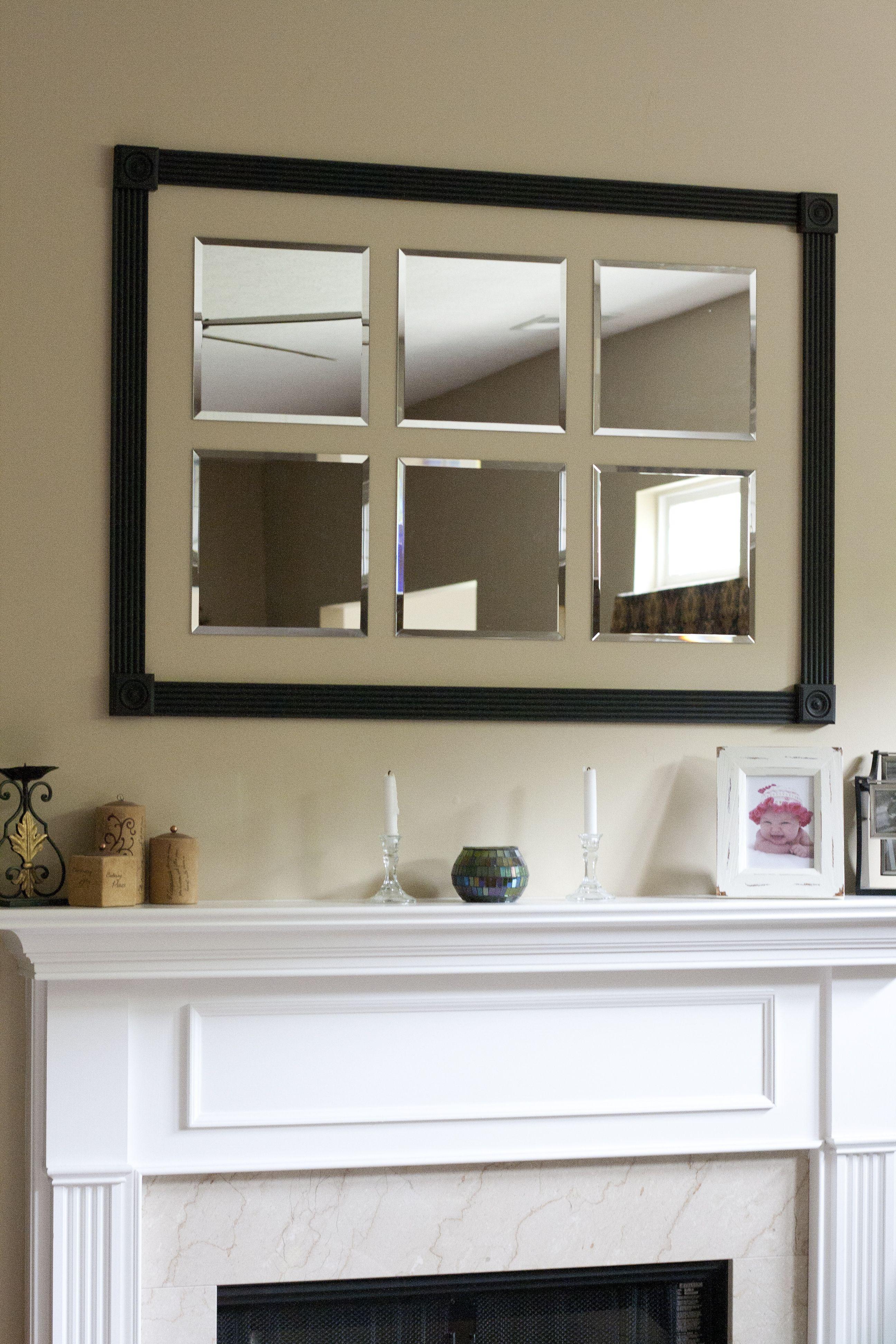 Custom frame around beveled mirrors for above the mantel | Design ...